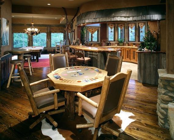 ornate poker table