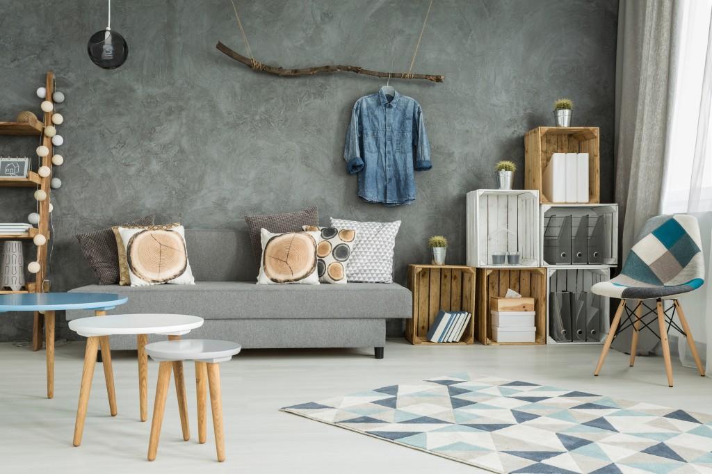 Visually light furniture